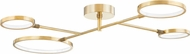Hudson Valley 4104-AGB Saturn Contemporary Aged Brass LED Flush Lighting