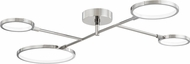 Hudson Valley 4104-PN Saturn Contemporary Polished Nickel LED Overhead Lighting
