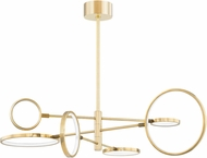 Hudson Valley 4106-AGB Saturn Contemporary Aged Brass LED Lighting Chandelier