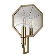 Hudson Valley 4111-AGB Cushing Modern Aged Brass Wall Lighting Fixture
