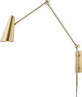 Hudson Valley 4121-AGB Lorne Contemporary Aged Brass Swing Arm Wall Lamp