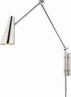Hudson Valley 4121-PN Lorne Contemporary Polished Nickel Swing Arm Wall Lamp
