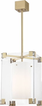 Hudson Valley 4125-AGB Achilles Contemporary Aged Brass 13 Drop Lighting Fixture