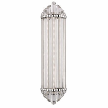 Hudson Valley 414-PN Albion Modern Polished Nickel Finish 6.5 Wide LED Wall Sconce Lighting