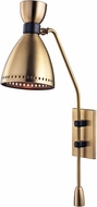 Hudson Valley 4141-AGB Solaris Contemporary Aged Brass Light Sconce