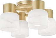 Hudson Valley 4204-AGB Centerport Contemporary Aged Brass LED Flush Mount Light Fixture