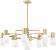 Hudson Valley 4237-AGB Centerport Contemporary Aged Brass LED Ceiling Chandelier