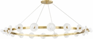 Hudson Valley 4258-AGB Austen Contemporary Aged Brass 58 Chandelier Lamp