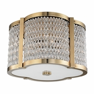 Hudson Valley 4302-AGB Ballston Aged Brass Ceiling Light Fixture