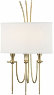 Hudson Valley 4303-AGB Damaris Contemporary Aged Brass Wall Lighting Fixture