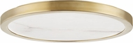 Hudson Valley 4318-AGB Woodhaven Modern Aged Brass LED 18 Ceiling Lighting Fixture