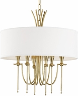 Hudson Valley 4322-AGB Damaris Modern Aged Brass 22  Drum Pendant Lamp