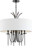 Hudson Valley 4322-OB Damaris Contemporary Old Bronze 22  Drum Hanging Lamp
