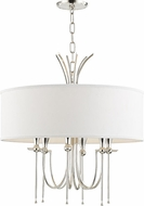 Hudson Valley 4322-PN Damaris Modern Polished Nickel 22  Drum Hanging Light