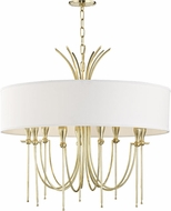 Hudson Valley 4330-AGB Damaris Contemporary Aged Brass 30  Drum Pendant Light Fixture