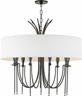 Hudson Valley 4330-OB Damaris Modern Old Bronze 30  Drum Pendant Lighting Fixture