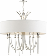 Hudson Valley 4330-PN Damaris Contemporary Polished Nickel 30  Drum Hanging Pendant Lighting