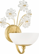 Hudson Valley 4402-AGB Beaumont Contemporary Aged Brass Xenon Wall Lighting Sconce