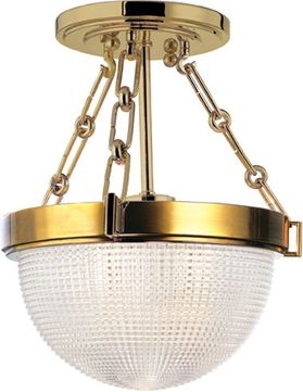 Hudson Valley 4409-AGB Winfield Modern Aged Brass Flush Mount Ceiling Light Fixture