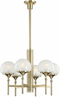 Hudson Valley 4427-AGB Salem Contemporary Aged Brass Hanging Chandelier