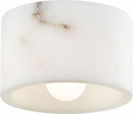 Hudson Valley 4500-ALA-PN Bleecker Contemporary Polished Nickel / Alabaster Flush Ceiling Light Fixture