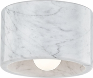 Hudson Valley 4500-WM-PN Bleecker Contemporary Polished Nickel / White Marble Home Ceiling Lighting