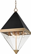 Hudson Valley 4515-AGB Coltrane Modern Aged Brass 15  Foyer Lighting