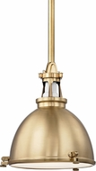 Hudson Valley 4614-AGB Massena Vintage Aged Brass 13.5  Ceiling Light Pendant