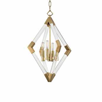 Hudson Valley 4617-AGB Lyons Contemporary Aged Brass Foyer Lighting