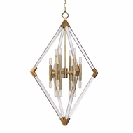 Hudson Valley 4630-AGB Lyons Contemporary Aged Brass Foyer Lighting