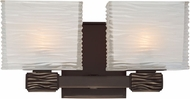 Hudson Valley 4662-OB Hartsdale Modern Old Bronze Xenon 2-Light Wall Mounted Lamp