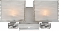 Hudson Valley 4662-PN Hartsdale Modern Polished Nickel Xenon 2-Light Wall Light Sconce