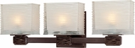 Hudson Valley 4663-OB Hartsdale Contemporary Old Bronze Xenon 3-Light Wall Light Sconce