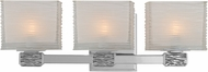 Hudson Valley 4663-PN Hartsdale Modern Polished Nickel Xenon 3-Light Wall Sconce Light