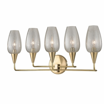 Hudson Valley 4705-AGB Longmont Aged Brass Wall Sconce