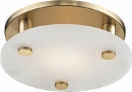 Hudson Valley 4709-AGB Croton Modern Aged Brass LED 9  Flush Mount Light Fixture