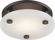 Hudson Valley 4709-OB Croton Contemporary Old Bronze LED 9  Flush Mount Lighting Fixture