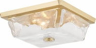 Hudson Valley 4710-AGB Hines Modern Aged Brass Flush Mount Ceiling Light Fixture