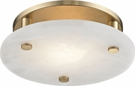 Hudson Valley 4712-AGB Croton Contemporary Aged Brass LED 12.25  Flush Mount Ceiling Light Fixture