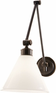 Hudson Valley 4731-OB Exeter Vintage Old Bronze Swing Arm Wall Lamp