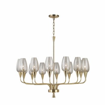 Hudson Valley 4733-AGB Longmont Aged Brass Lighting Chandelier