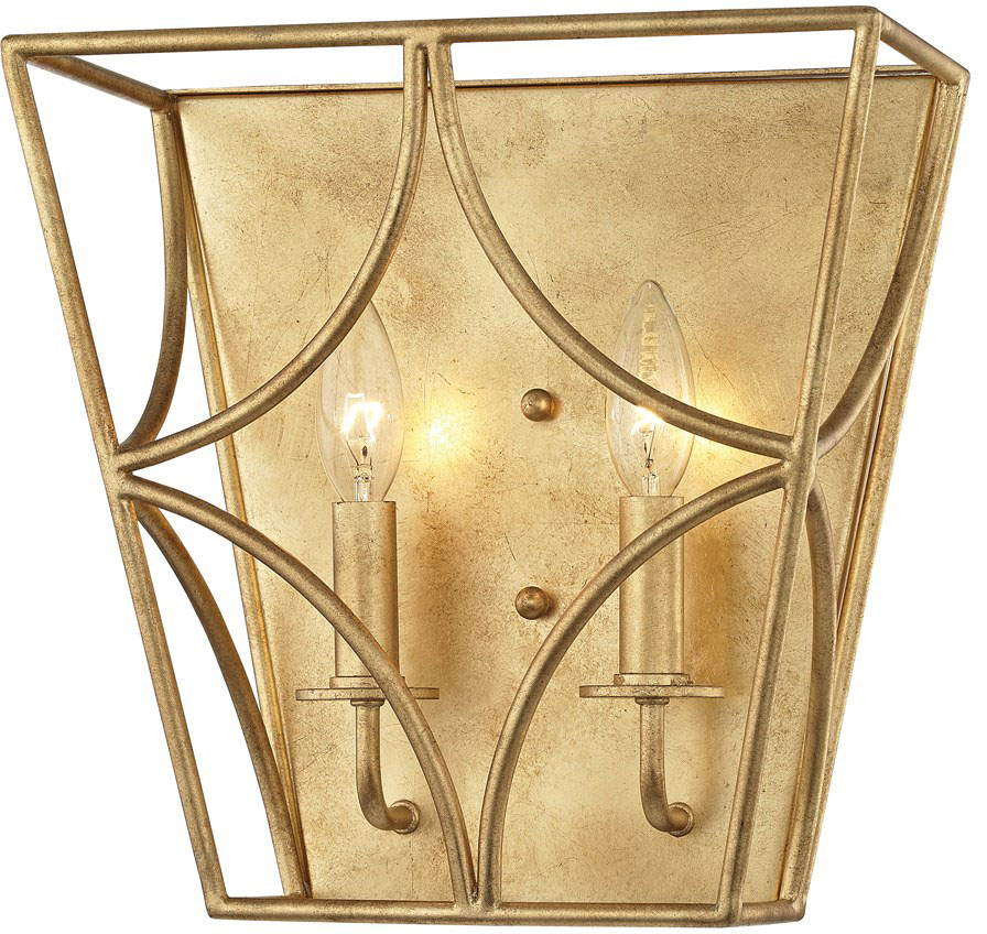 Hudson Valley 4800 Gl Green Point Gold Leaf Wall Sconce