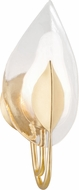 Hudson Valley 4801-GL Blossom Modern Gold Leaf Wall Mounted Lamp