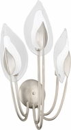 Hudson Valley 4803-SL Blossom Contemporary Silver Leaf Wall Sconce Light