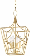 Hudson Valley 4811-GL Green Point Gold Leaf 12  Foyer Lighting