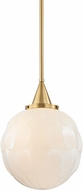 Hudson Valley 4815-AGB Tybalt Aged Brass Hanging Lamp
