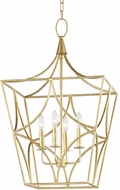Hudson Valley 4818-GL Green Point Gold Leaf 18  Foyer Lighting Fixture