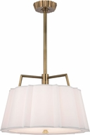 Hudson Valley 4824-AGB Humphrey Aged Brass 24  Drum Hanging Light