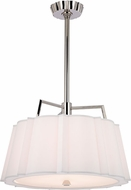 Hudson Valley 4824-PN Humphrey Polished Nickel 24  Drum Pendant Lighting Fixture
