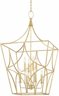 Hudson Valley 4825-GL Green Point Gold Leaf 24  Foyer Lighting